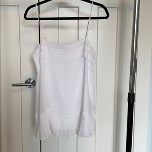 Banana republic white pleated bottom blouse